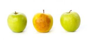 fruta magullada