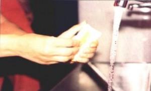 lavado de uñas